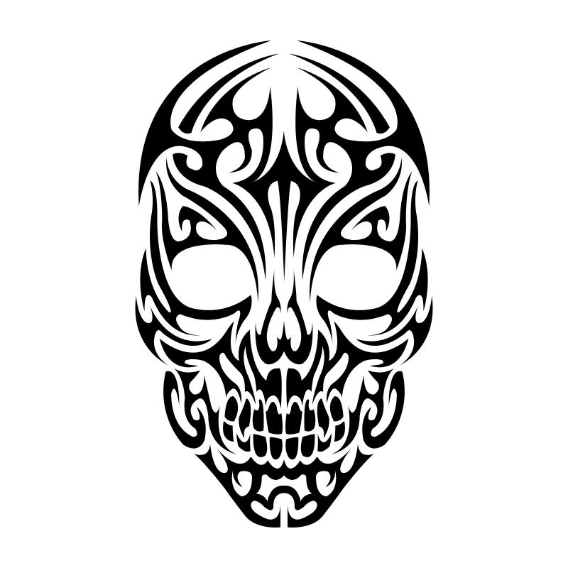 Tribal Skull Tattoo - Tribal Skull Tattoos, Transparent background PNG HD thumbnail