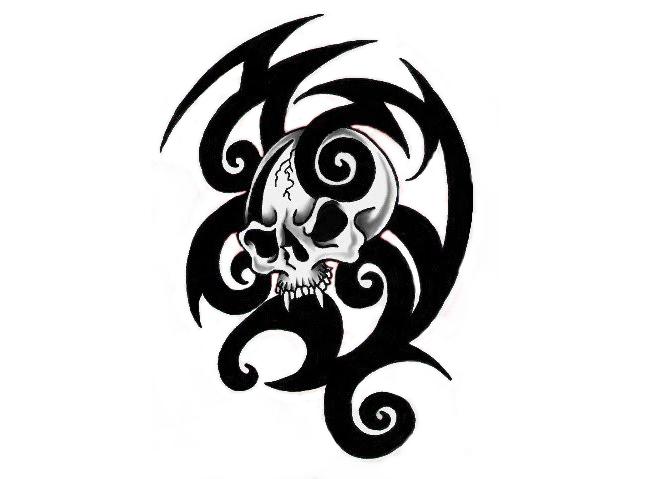 Tribal Skull Tattoos Png Image #30741 - Tribal Skull Tattoos, Transparent background PNG HD thumbnail