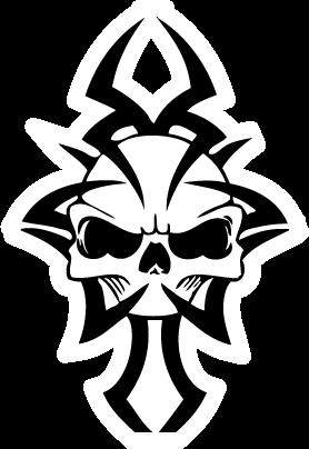 Tribal Skull Tattoos Png Transparent Images Image #30742 - Tribal Skull Tattoos, Transparent background PNG HD thumbnail