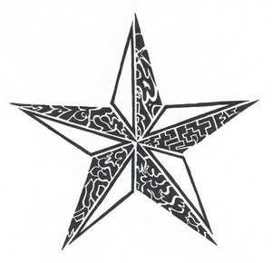Tribal Star Tattoo Image - Star Tattoos, Transparent background PNG HD thumbnail
