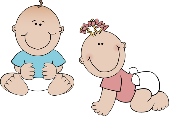 Babies Clipart #13940 - Two Babies, Transparent background PNG HD thumbnail