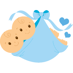 Image Result For Twin Blue Baby Footprint   Baby Twins Boys Png - Two Babies, Transparent background PNG HD thumbnail