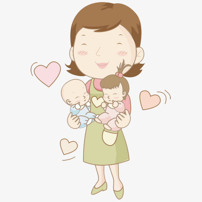Mother Holding Two Lovely Babies, Mother And Baby, Baby, Baby Laughs Png Image - Two Babies, Transparent background PNG HD thumbnail