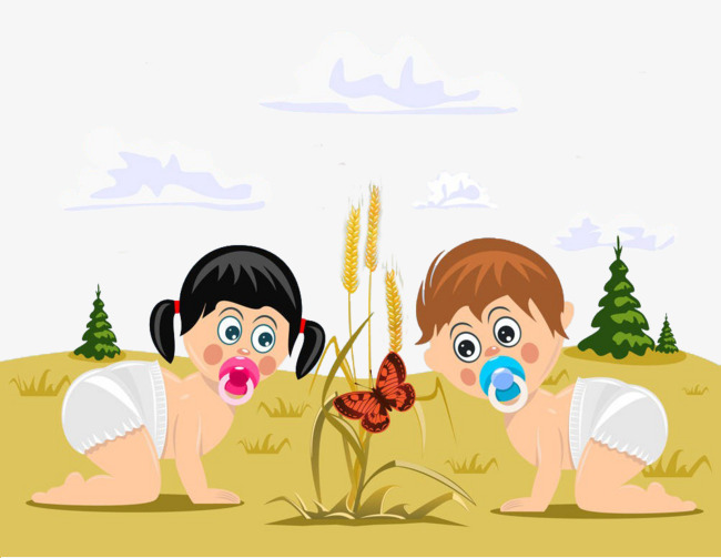 Two Babies Free Png - Two Babies, Transparent background PNG HD thumbnail