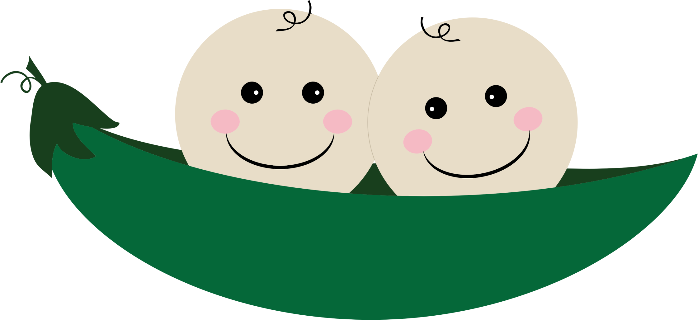 Two Peas In A Pod PNG