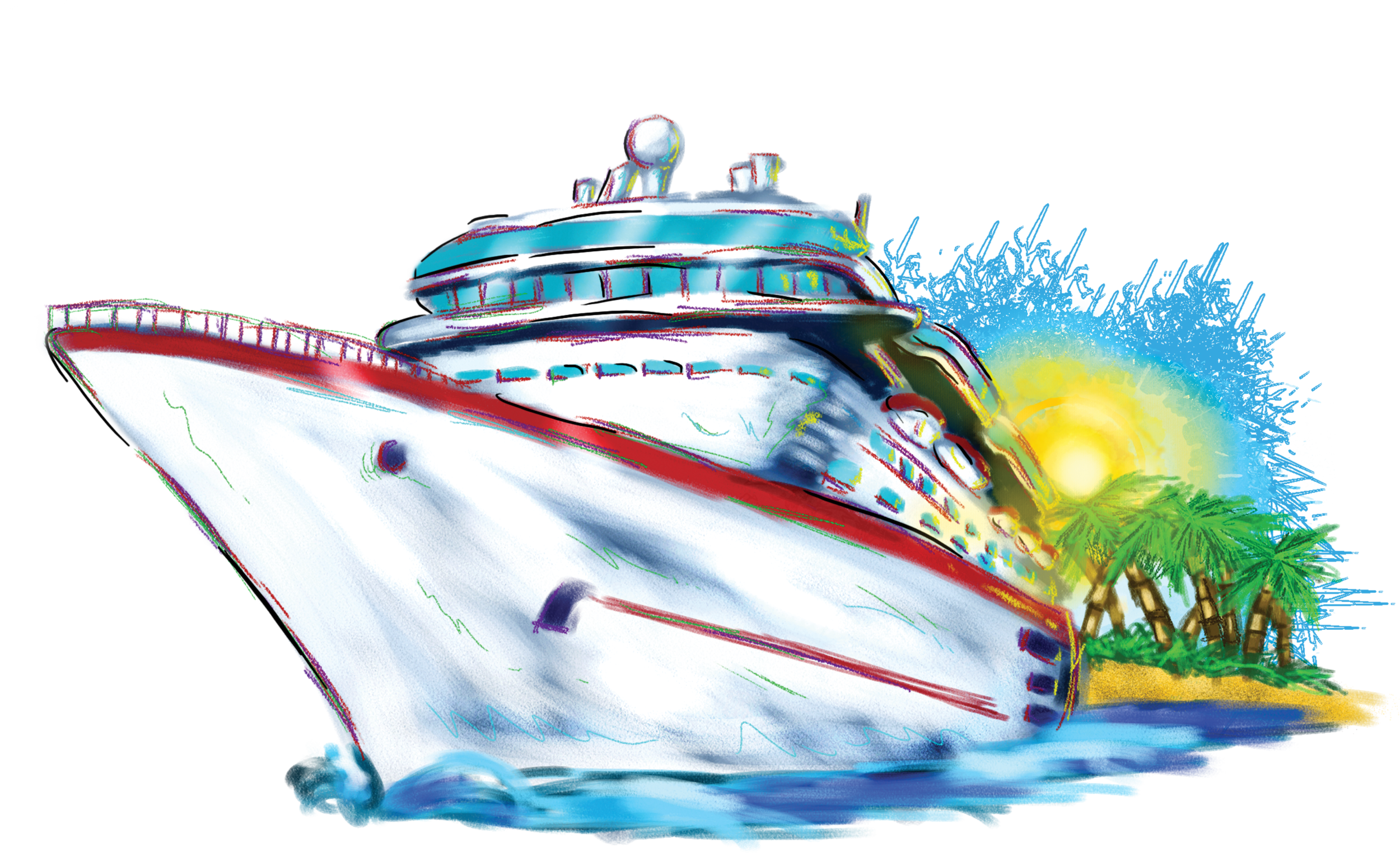 Vacation Cruise Ship The - Cruise Ship, Transparent background PNG HD thumbnail