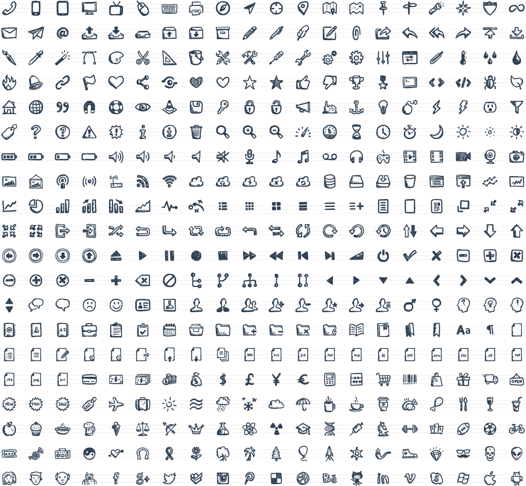 . Hdpng.com Jolly Icons U2013 400 Hand Drawn Vector Icons - Vector Icon, Transparent background PNG HD thumbnail