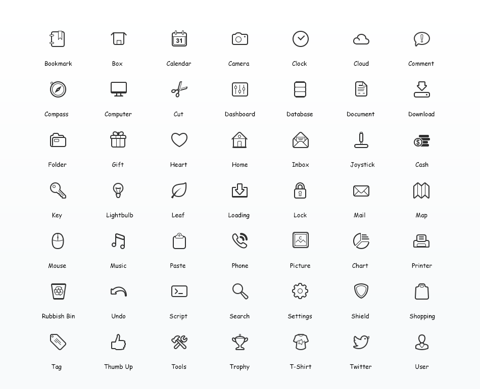 Simplicity Vector Icon Set   A Set Of 60 Free Icons In Png And Psd - Vector Icon, Transparent background PNG HD thumbnail