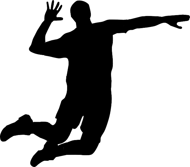 Volleyball Hit Png - Free Vector Graphic: Volleyball, Player, Hitting, Man   Free Image On Pixabay   310328, Transparent background PNG HD thumbnail