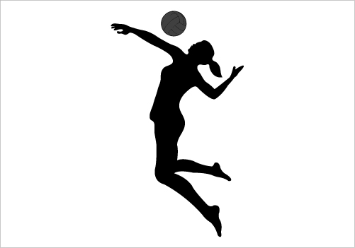 Volleyball Hit Png - Girls Volleyball, Transparent background PNG HD thumbnail