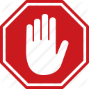 Wait Sign Png - Adblock, Block, Halt, Hand, Red, Sign, Stop Icon, Transparent background PNG HD thumbnail