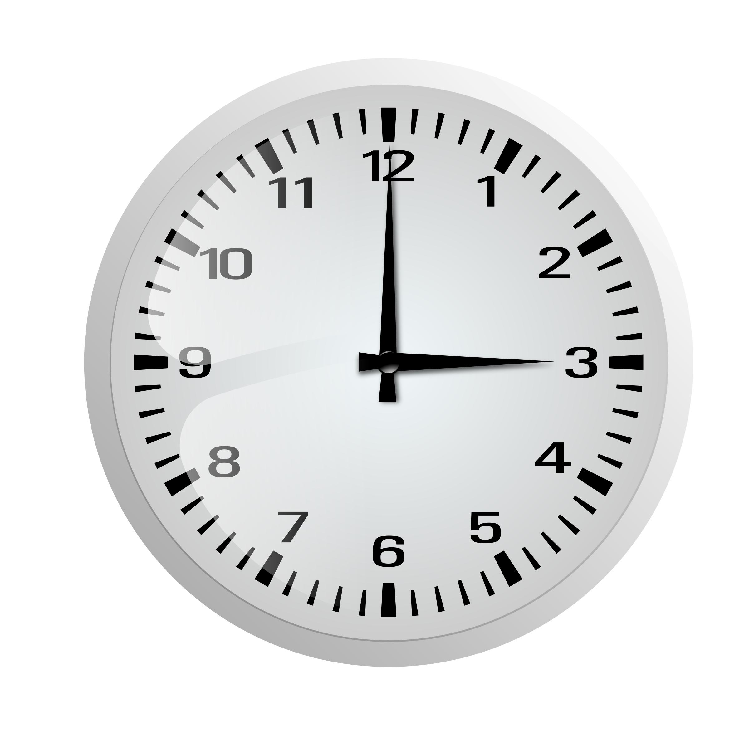 Wall Clock PNG Black And White