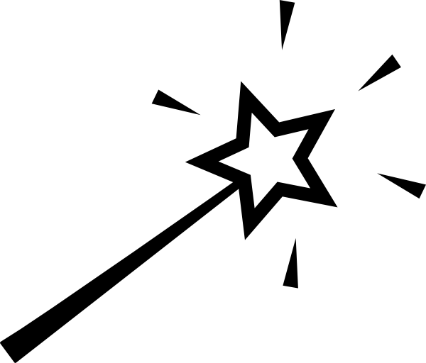 Wand PNG Black And White