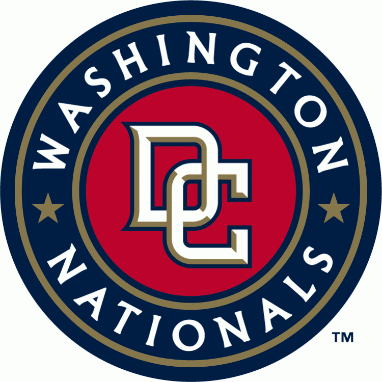 Washington Nationals Alternate Logo (2005)   Interlocking Dc In White With Gold Beveling And - Washington Nationals Vector, Transparent background PNG HD thumbnail