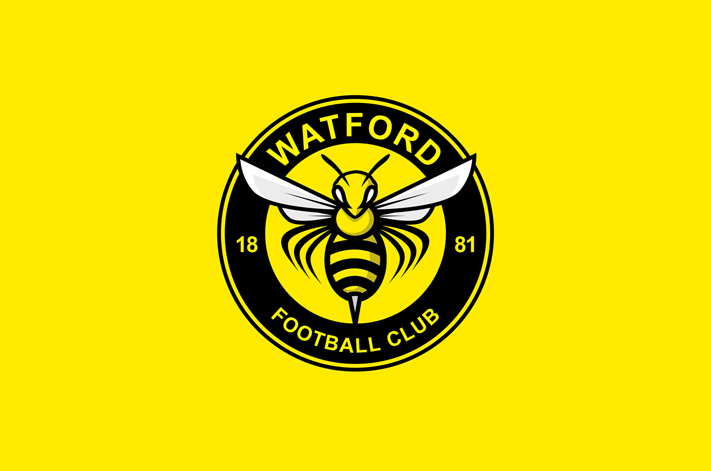 Unofficial Rebrand Of Watford Fc Centered On The Concept Of Imagining A New Crest That Matches The Club Nickname U0027The Hornets. This Logo Is Not An Official Hdpng.com  - Watford Fc Vector, Transparent background PNG HD thumbnail