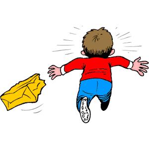 Cartoon Boy Running Away | Download Png Download Eps Download Zip Email Bookmark Report - Weglaufen, Transparent background PNG HD thumbnail