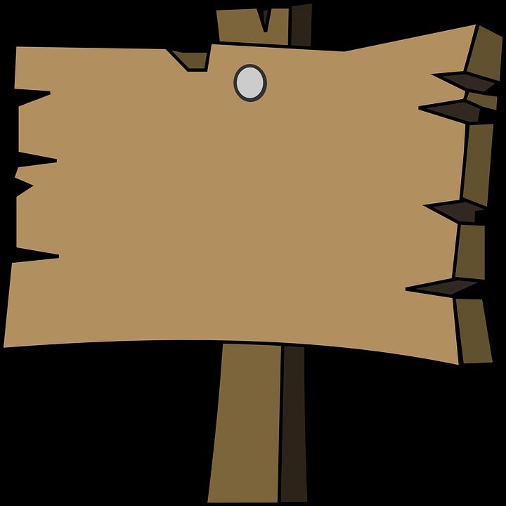 Signal, Holz, Reiner, Leer, Wegweiser - Wegweiser Holz, Transparent background PNG HD thumbnail