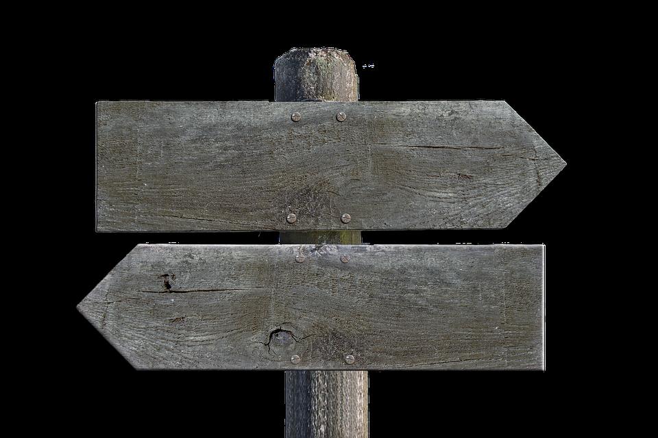 Wegweiser, Holz, Schild, Wegzeiger, Richtung - Wegweiser Holz, Transparent background PNG HD thumbnail