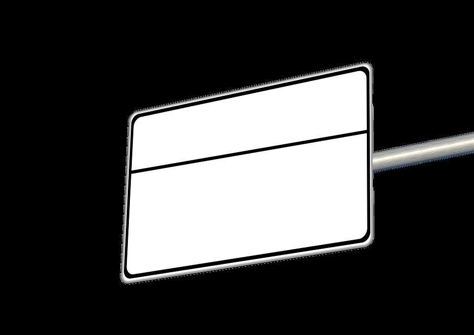Schild, Wegweiser, Hinweis, Wegzeiger, Ortsschild - Wegweiser Leer, Transparent background PNG HD thumbnail