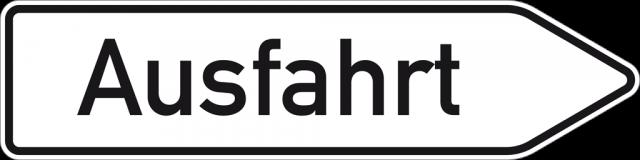 Wegweiser Rechtsweisend Mit Text Nach Wunsch (Reflektierend), Nr. 432 20 - Wegweiser Leer, Transparent background PNG HD thumbnail