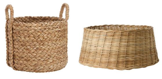 Christmas Tree Basket Tree Skirt - Wicker Basket, Transparent background PNG HD thumbnail