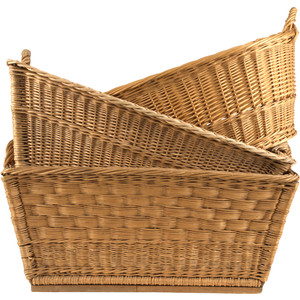 Jayson Home Vintage Wicker Basket - Wicker Basket, Transparent background PNG HD thumbnail