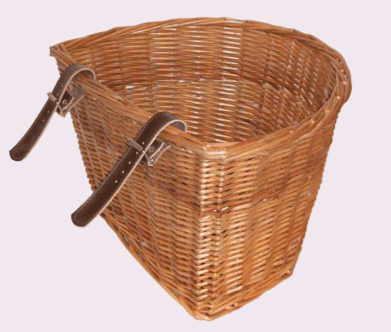 Medium Wicker Bike Basket Medium Wicker Bike Basket Back - Wicker Basket, Transparent background PNG HD thumbnail