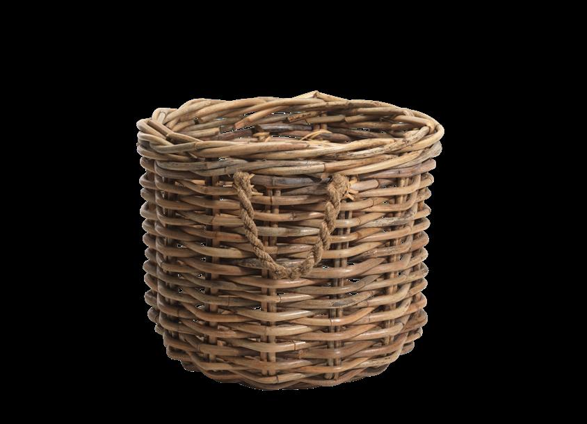 Rattan Chunky Basket - Wicker Basket, Transparent background PNG HD thumbnail