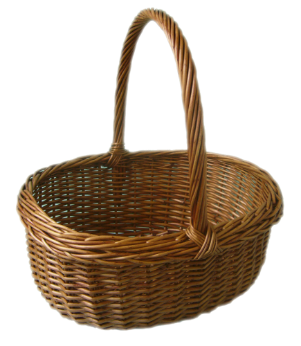 Wicker Cooking Basket - Wicker Basket, Transparent background PNG HD thumbnail