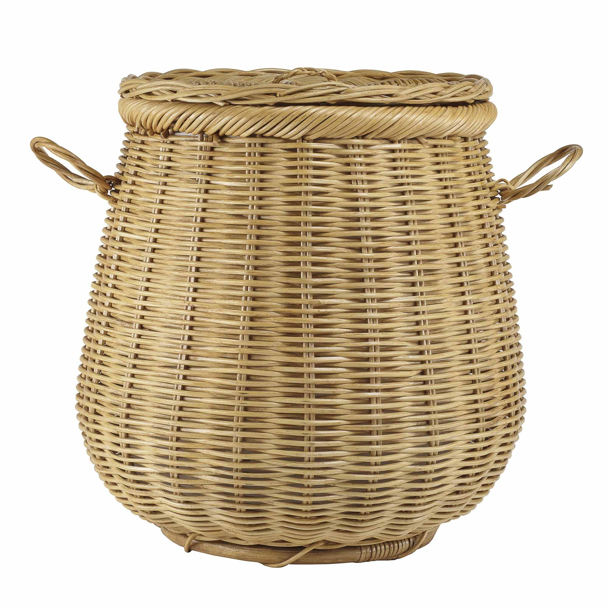 Wonderful Wicker Laundry Basket With Lid - Wicker Basket, Transparent background PNG HD thumbnail