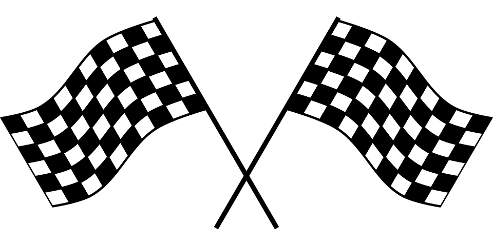 Checker, Flag, Race, Checkered Flag, Checkered, Win - Win Black And White, Transparent background PNG HD thumbnail