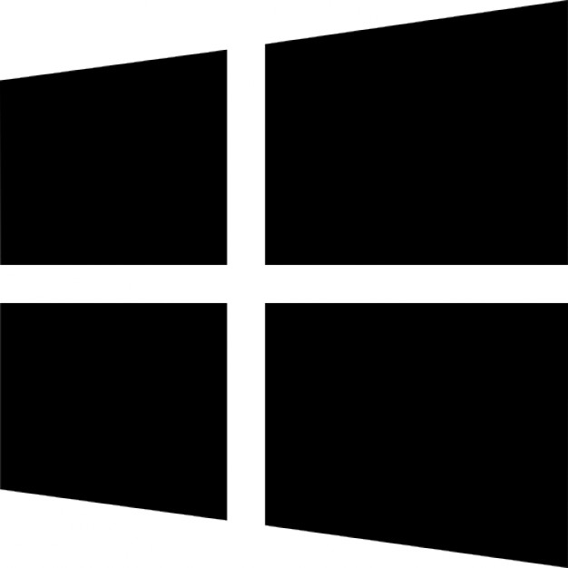 Windows 8 Logo Free Icon - Win Black And White, Transparent background PNG HD thumbnail