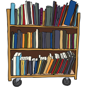 Library Book Cart Clipart, Cliparts Of Library Book Cart Free Download (Wmf, Eps, Emf, Svg, Png, Gif) Formats - Wmf Library, Transparent background PNG HD thumbnail