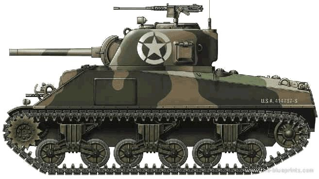Military Tank Png - Ww2 Tanks Us/m4A2 Sherman 75Mm.png | World War 2 Tanks And Armoured Military Vehicles | Pinterest, Transparent background PNG HD thumbnail