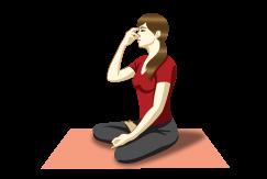 Bhramari Pranayama (Bee Breath) - Yoga Breathing, Transparent background PNG HD thumbnail