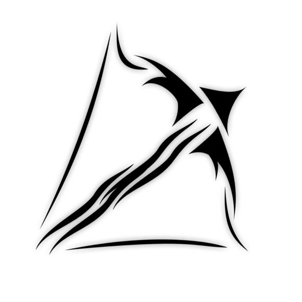 Zodiac Sagittarius Black Ink Tattoo Design - Zodiac Tattoos, Transparent background PNG HD thumbnail